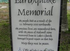 Memorial sign at St Luke's in the City, Manchester St